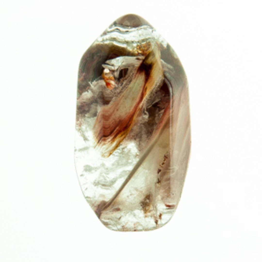 Polished Amphibole Quartz Point