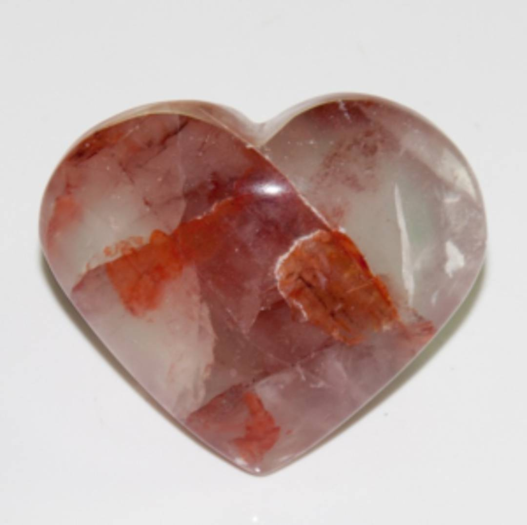 Hematoid Quartz Heart