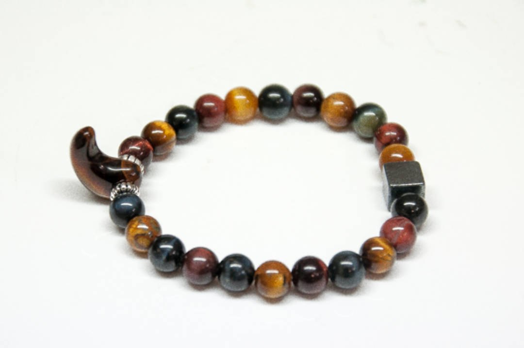Tigers Eye mix Round Bead Bracelet