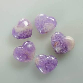 Chevron Amethyst Heart