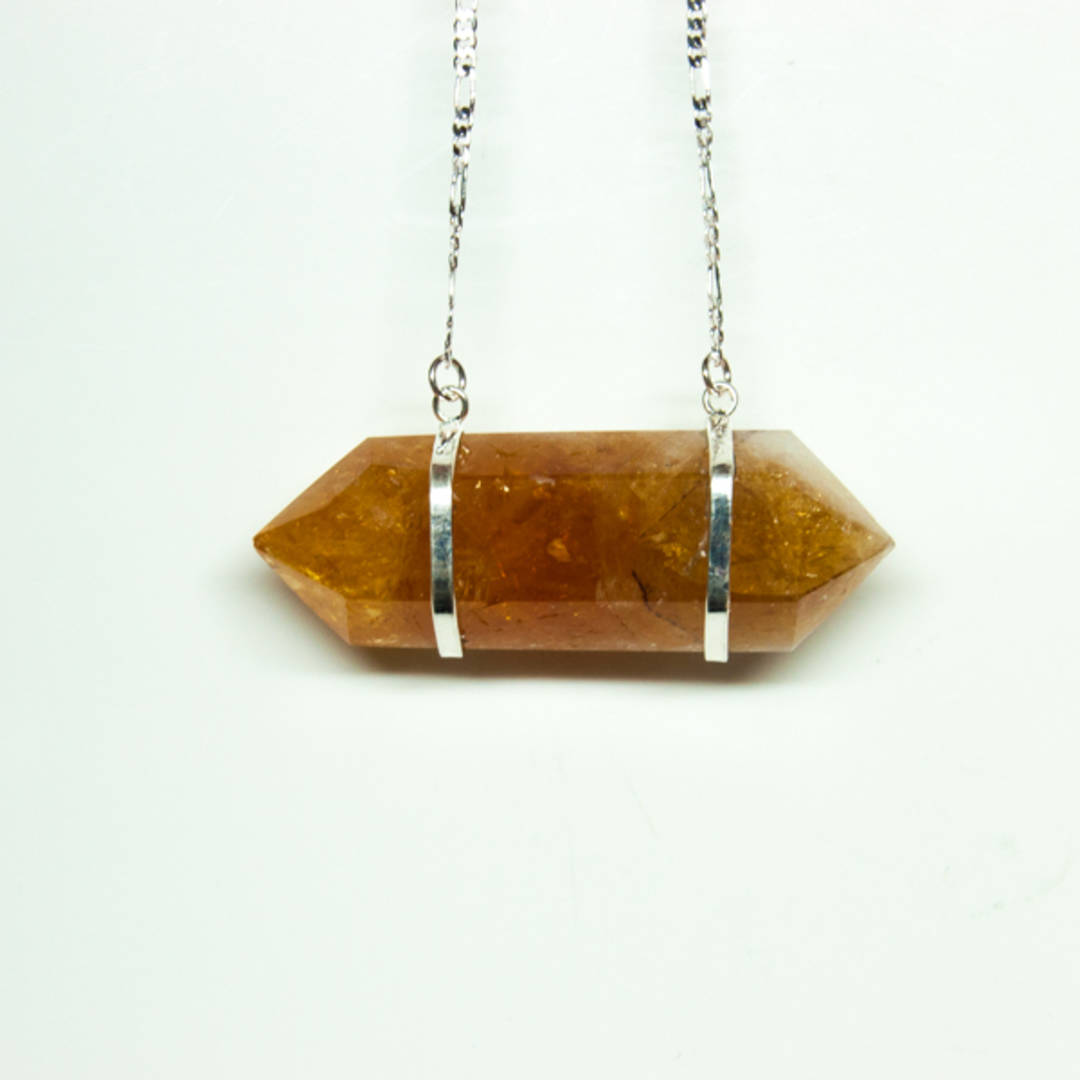 Citrine Double Point Pendant