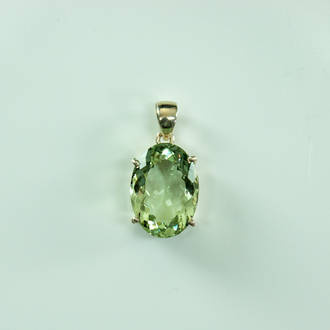 Beautiful Faceted Prasiolite  Pendant