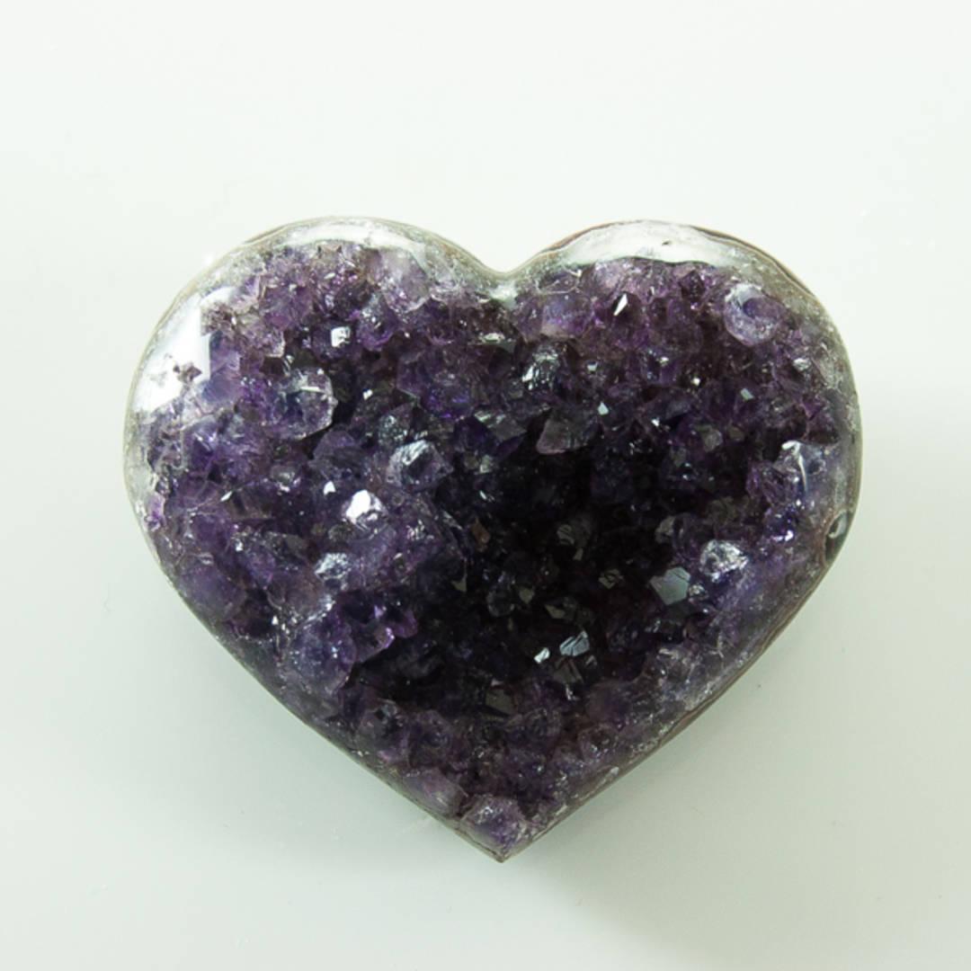 Amethyst Druze Heart