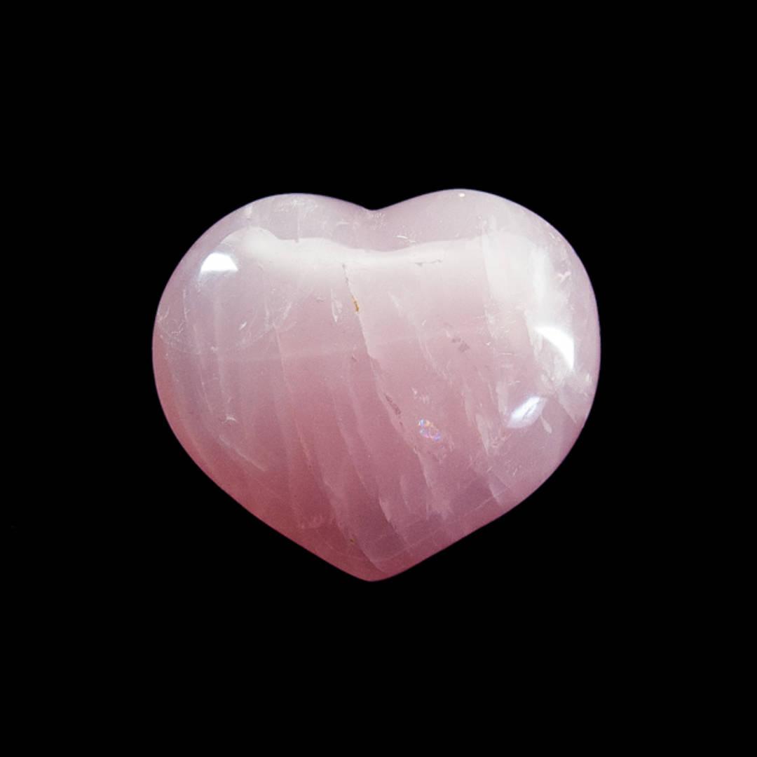 Rose Quartz Polished Heart