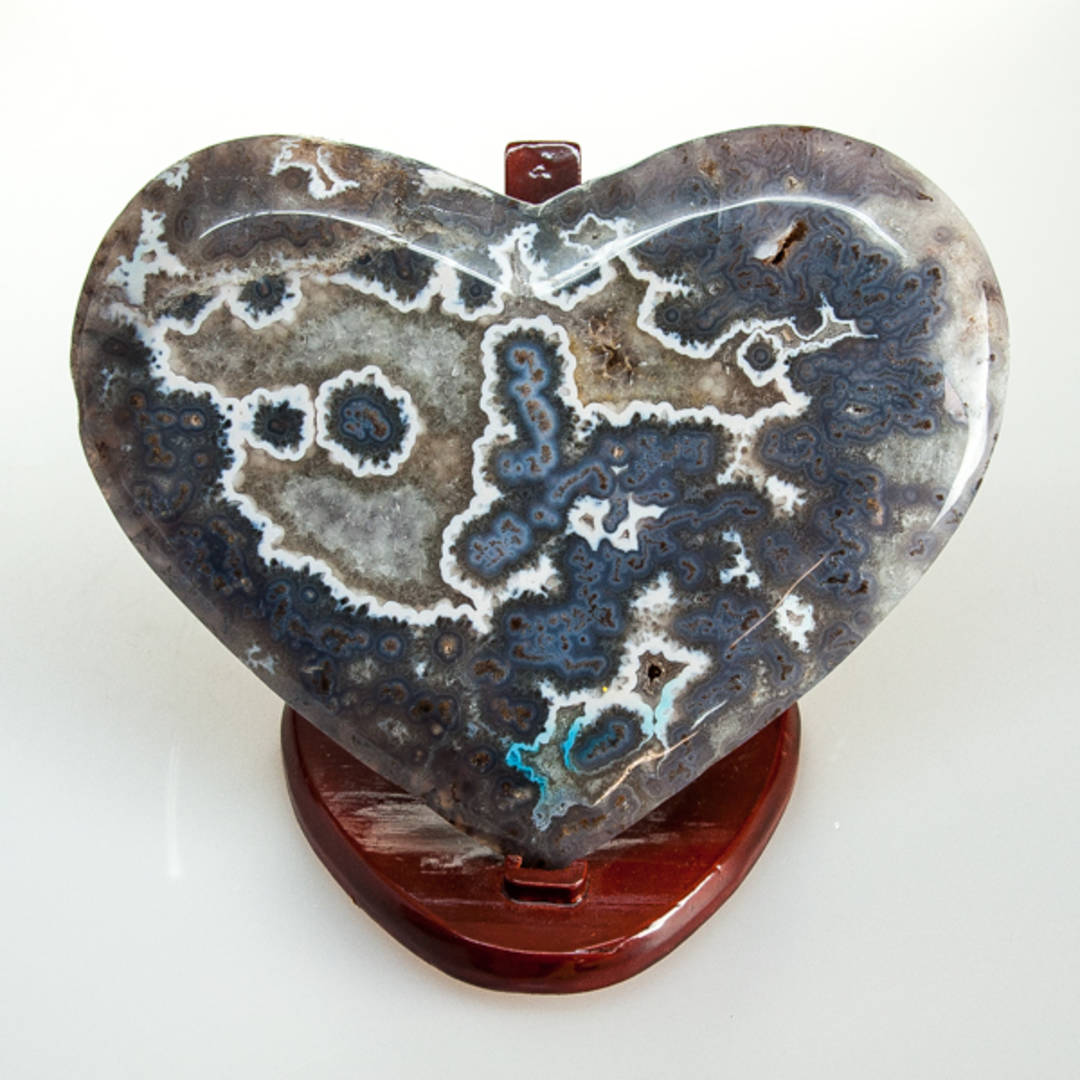 Prasiolite With Stalactite Polished Heart