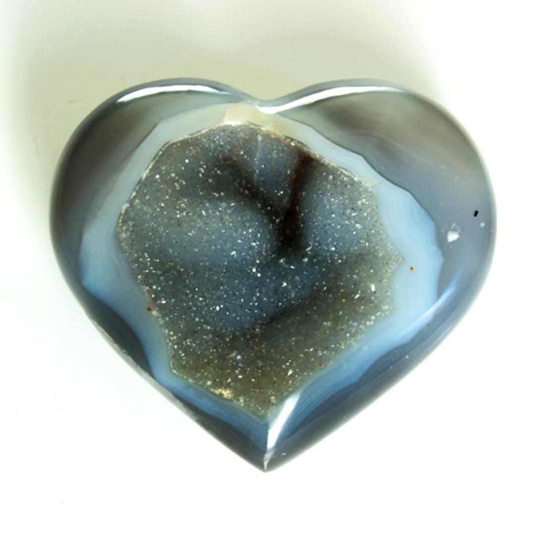 Agate Druze heart