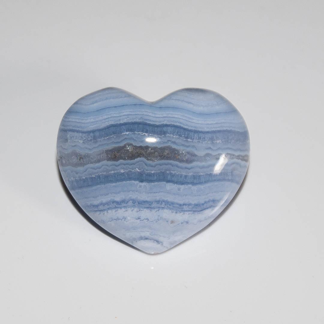 Blue Lace Agate Heart