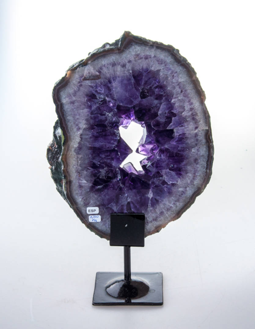 Amethyst Druze Slice