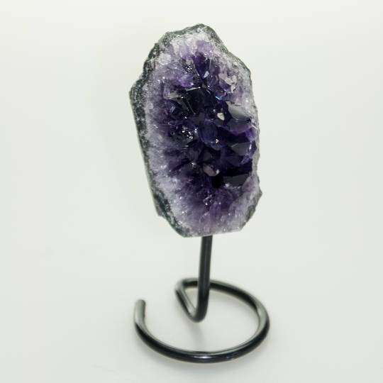 Amethyst Druze on metal stand