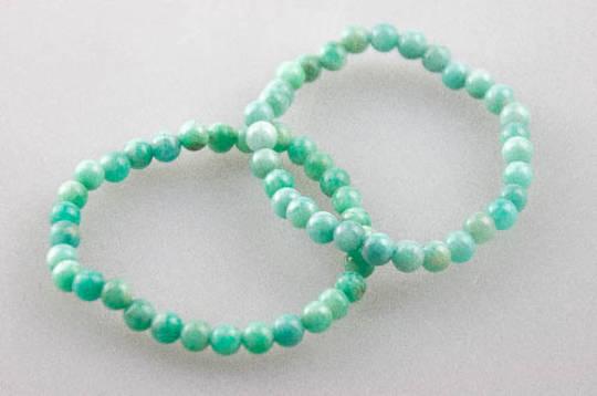 Amazonite Round Bead Bracelet