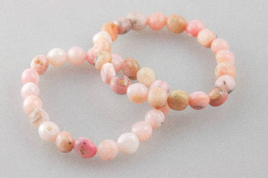 Pink Opal Tumble Bead Bracelet