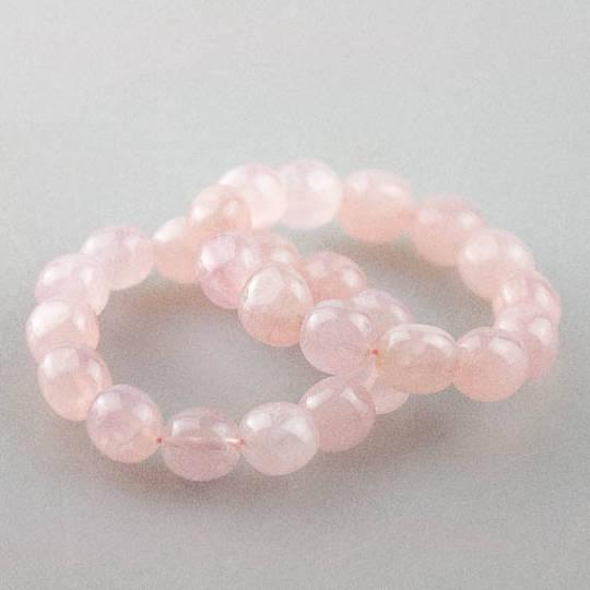 Rose Quartz Tumbled Bead Bracelet