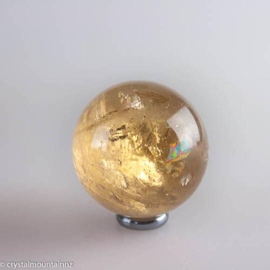 Natural Citrine Sphere