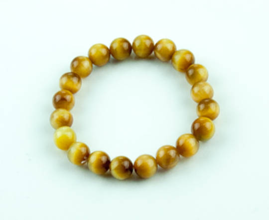Tigers Eye Golden - Round Bead Bracelet