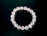 Rose Quartz Round Bead Bracelet