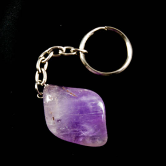 Amethyst Tumbled Key Chain