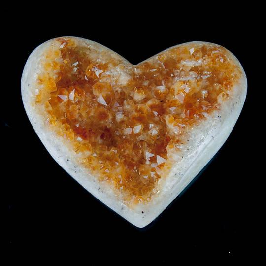 Citrine Druze Heart