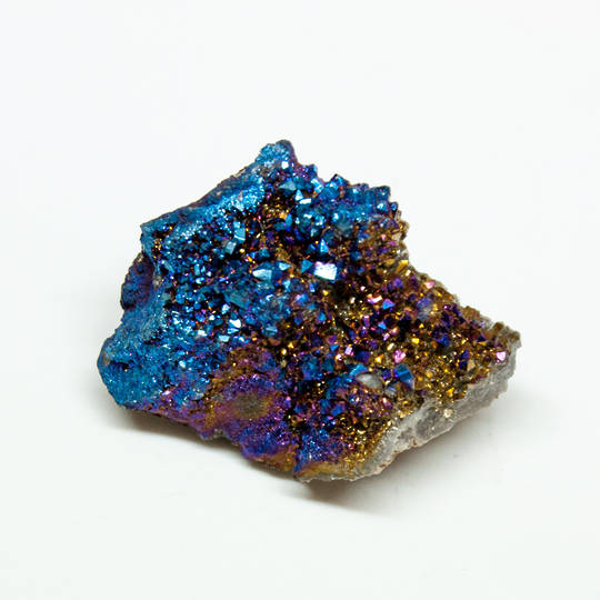 Cobalt Coated Quartz Druze