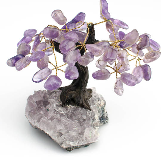 Amethyst Tree with Natural Amethyst Druze Base