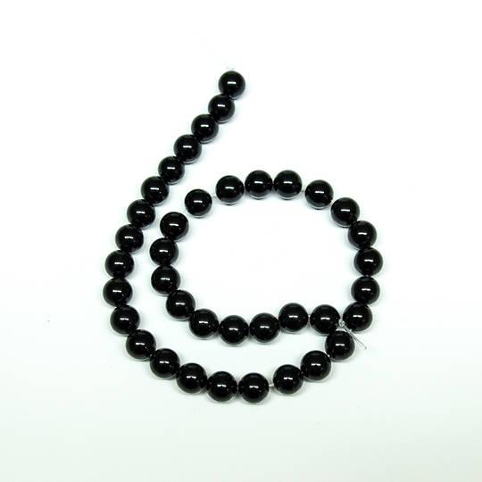 Obsidian Round Bead Strand