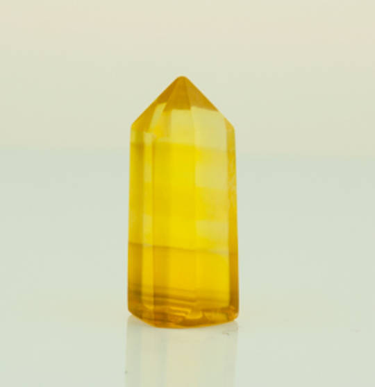 Yellow Fluorite Polished Point