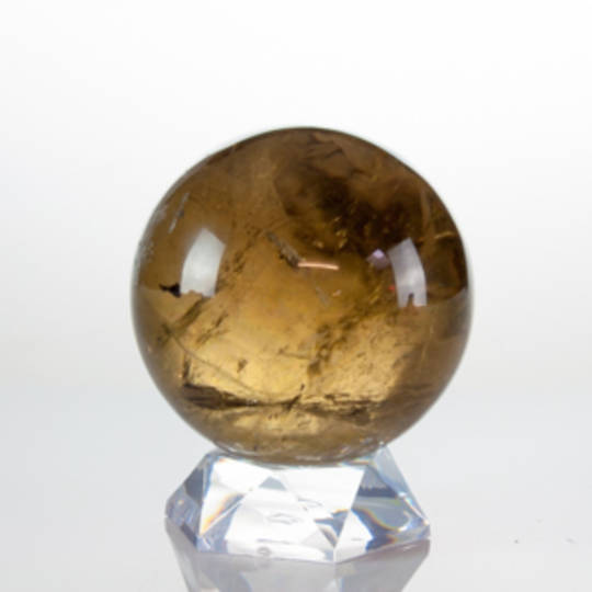Beautiful Natural Citrine Sphere With Rainbows