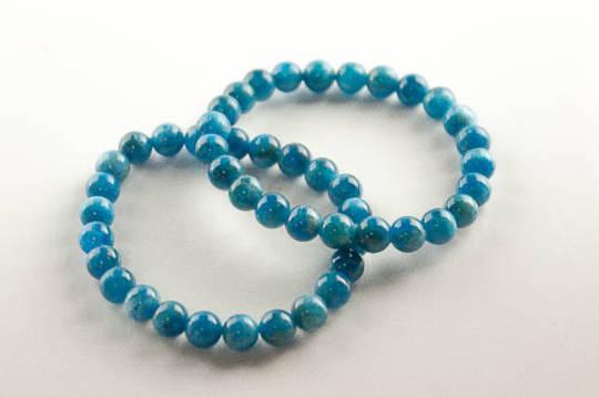 Apatite Round Bead Bracelet