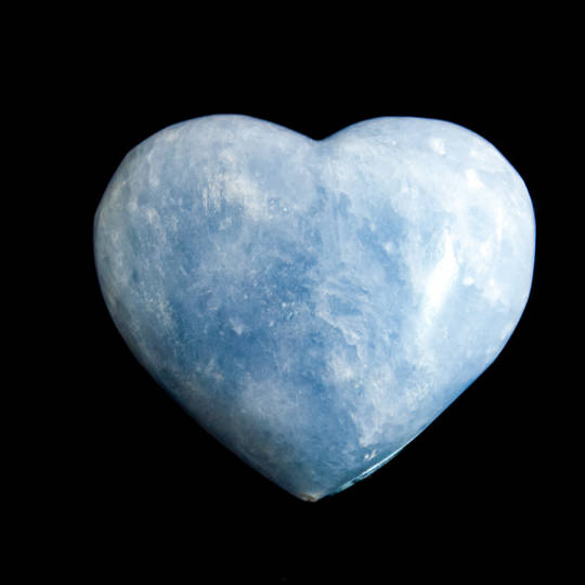 Polished Blue Calcite Heart