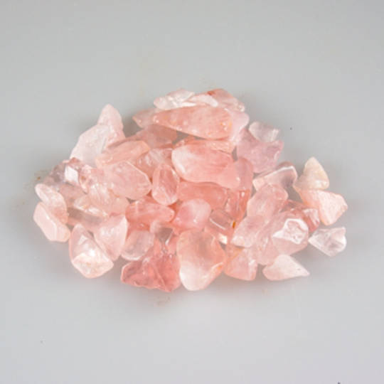 Rose Quartz Chip Tumbled Stones Bag