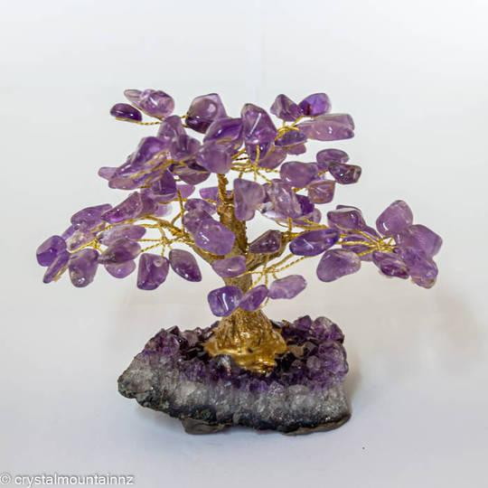 Amethyst Tree with Amethyst Druze Base