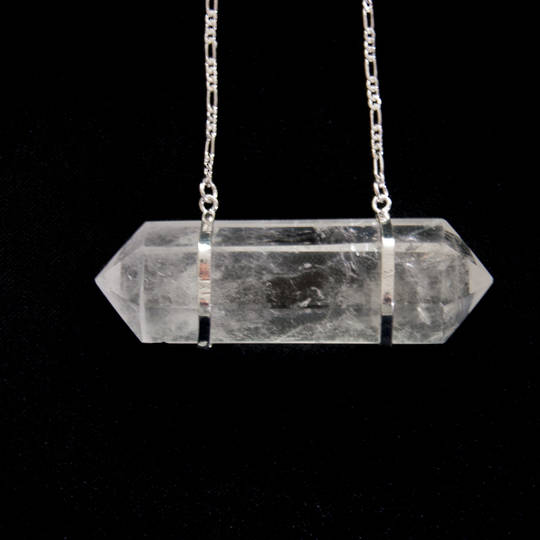Clear Quartz Double Point Pendant