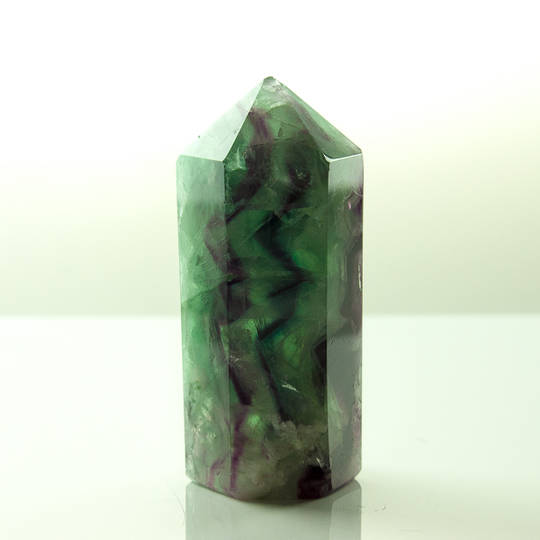 Beautiful Rainbow Fluorite Point