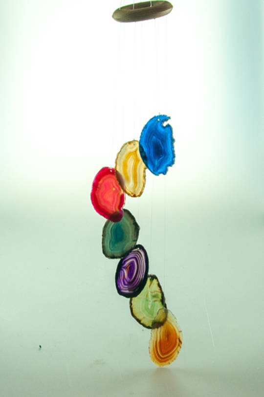 Agate Wind Chime Multi-Colour