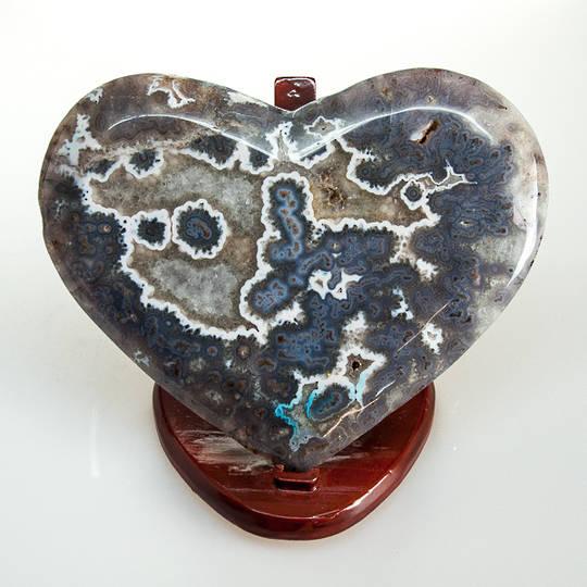 Prasiolite With Stalactite Polished Heart