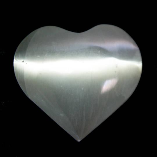Selenite Heart Polished