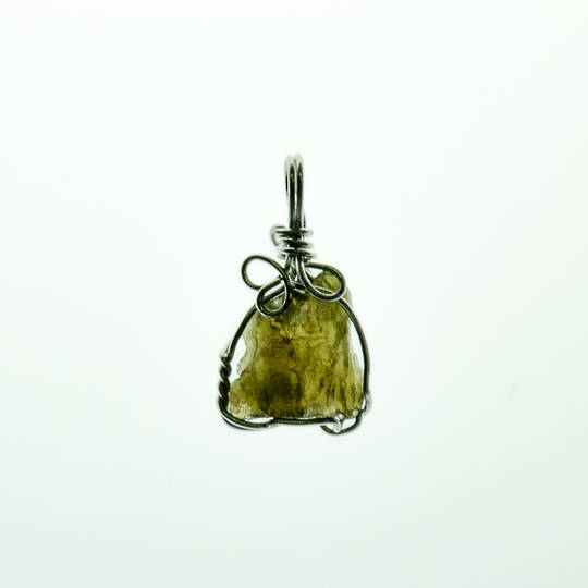 Moldavite Rough Pendant