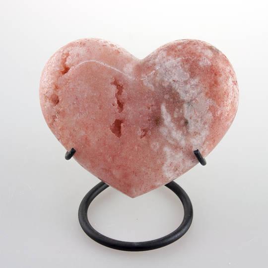 Pink Amethyst Heart