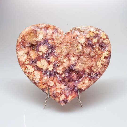 Pink Amethyst Druze Heart