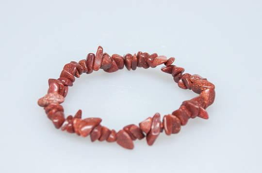Goldstone Chip Bracelet