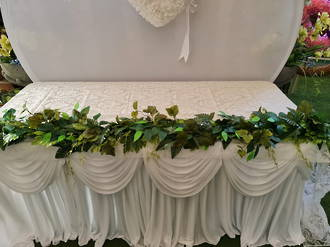 Mixed Green Foliage Garland with lights