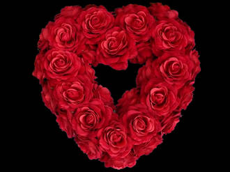 Red Rose Heart Wreath