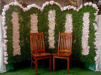 Flower Wall - Photo Booth Backdrop