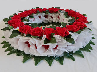 24 Red Rose Wreath – Artificial