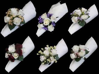 Floral Serviette Ring Set x 4