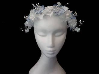 Blue & White Bridal Crown