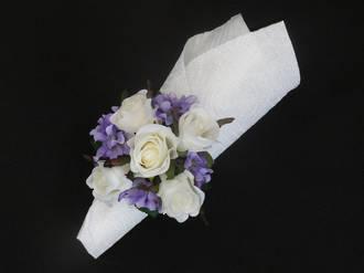 White rose & Blue Larkspur
