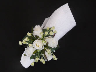 White rose & White Gypsophila