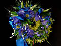 Blue Wreath – Silk Flowers