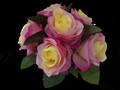 Rose Posy - 5 Colours - Diamante Handle