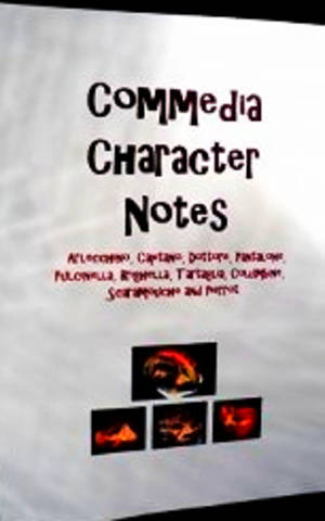 Commedia - Character Notes Book